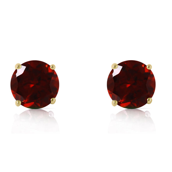 3.1 Carat 14K Solid Yellow Gold Dream Your Heart Garnet Earrings
