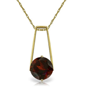 1.45 Carat 14K Solid Yellow Gold Winter Words Garnet Necklace