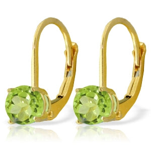1.2 Carat 14K Solid Yellow Gold Grab And Go Peridot Earrings