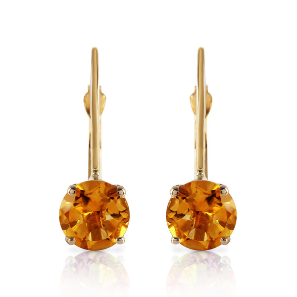 1.2 Carat 14K Solid Yellow Gold Iris Citrine Earrings