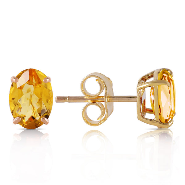 1.8 Carat 14K Solid Yellow Gold A Bee Or Two Citrine Earrings
