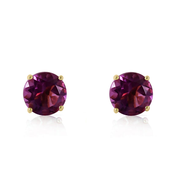0.95 Carat 14K Solid Yellow Gold Sublime Target Amethyst Earrings