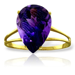 5 Carat 14K Solid Yellow Gold Not Just Slightly Amethyst Ring