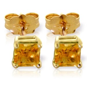 0.7 Carat 14K Solid Yellow Gold Love Lives For Seconds Citrine Earrings