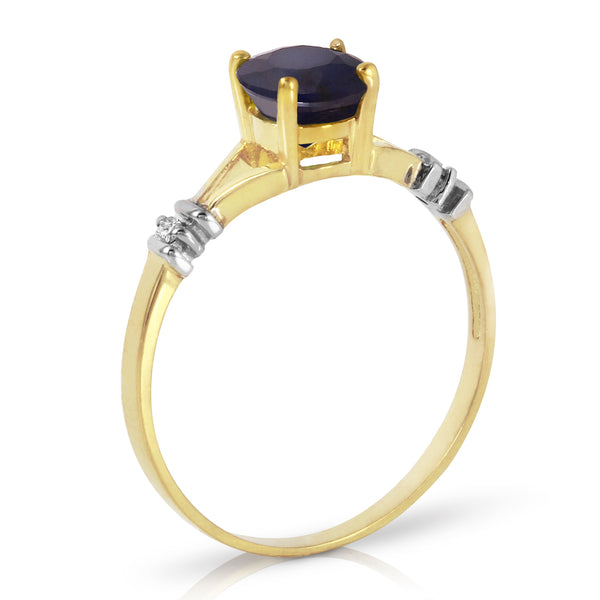 1.02 Carat 14K Gold Purge Your Soul Sapphire Diamond Ring