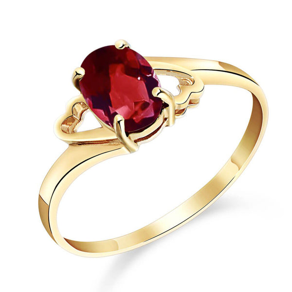 0.9 Carat 14K Solid Yellow Gold Nearly Outstanding Garnet Ring