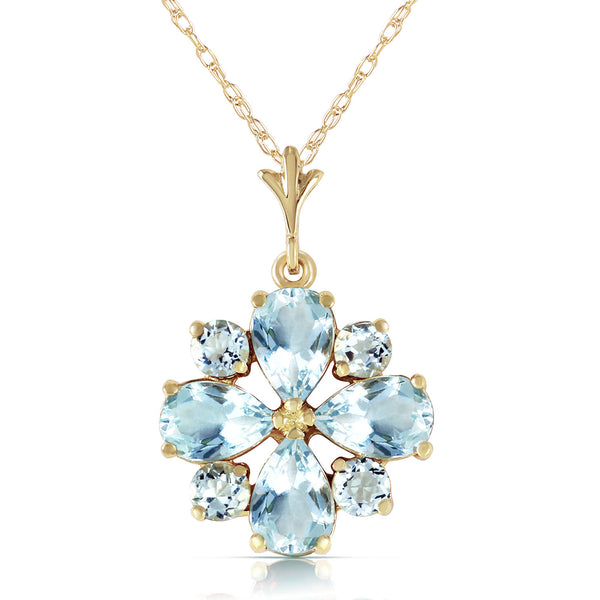 2.43 Carat 14K Gold Cool Chic Aquamarine Necklace