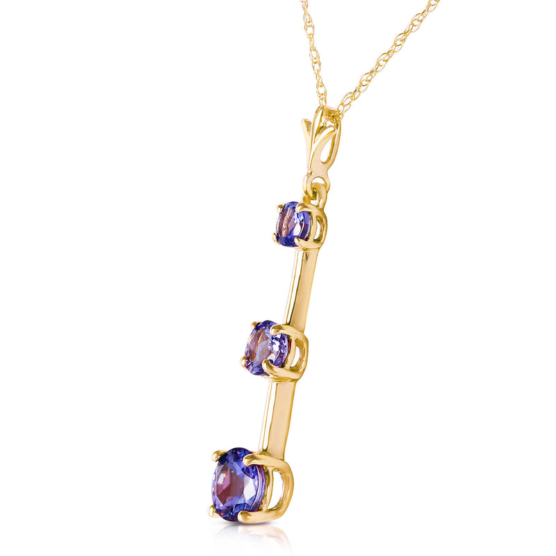 1.25 Carat 14K Gold Evening Of Poetry Tanzanite Necklace