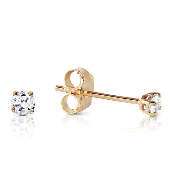 0.1 Carat 14K Solid Yellow Gold Stud Earrings 0.10 Carat Natural Diamond