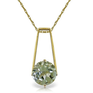 1.45 Carat 14K Solid Yellow Gold Boundless Moment Green Amethyst Necklace