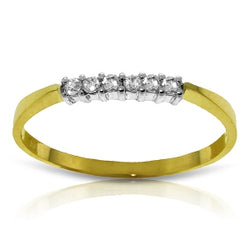 0.1 Carat 14K Solid Yellow Gold Ring Natural Diamond