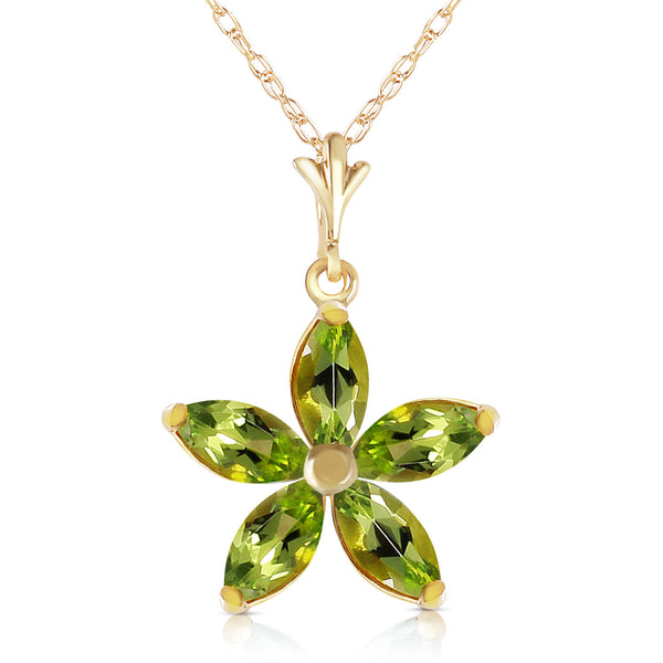 1.4 Carat 14K Solid Yellow Gold Virtue Peridot Necklace
