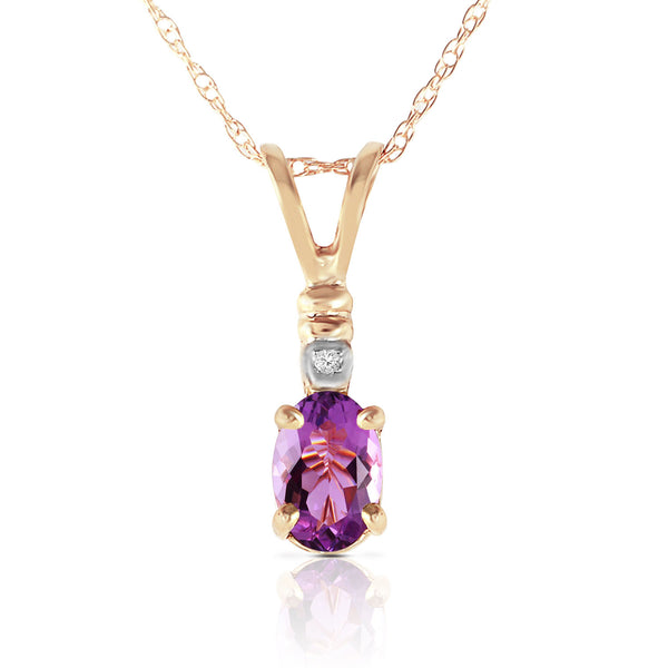 0.46 Carat 14K Gold Applause Amethyst Diamond Necklace