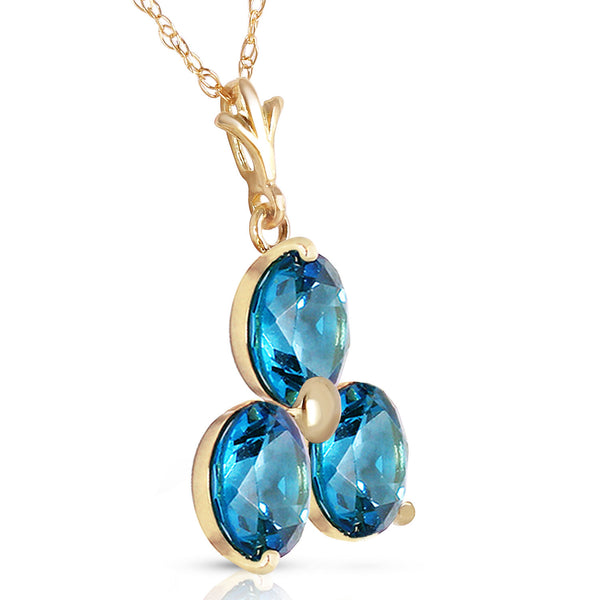 0.75 Carat 14K Gold All That Jazz Blue Topaz Necklace