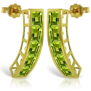 4.5 Carat 14K Solid Yellow Gold Valerie Peridot Earrings