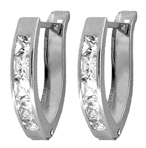 1.6 Carat Sterling Silver Another Day Cubic Zirconia Earrings
