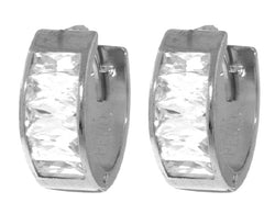 3.5 Carat Sterling Silver Real Woman Cubic Zirconia Earrings