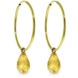 4.5 Carat 14K Solid Yellow Gold Margherita Citrine Earrings