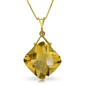 8.75 Carat 14K Solid Yellow Gold Never Distant Blue Topaz Necklace