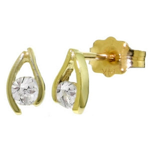 0.2 Carat 14K Solid Yellow Gold Another Sky Diamond Earrings