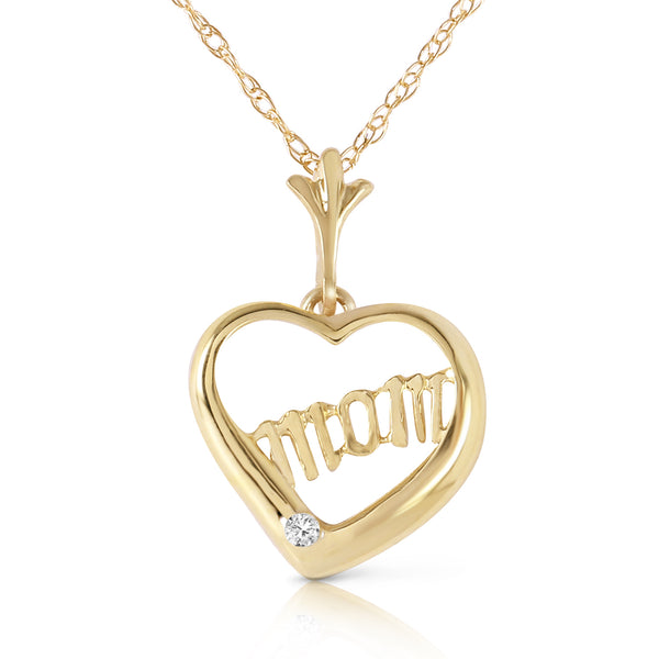 0.01 Carat 14K Gold Mama Mia Diamond Necklace
