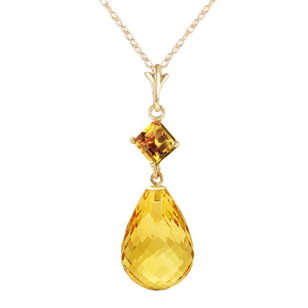5.5 Carat 14K Gold Admit One Citrine Necklace