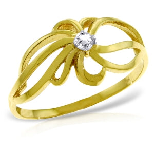 0.05 Carat 14K Solid Yellow Gold Enamored Diamond Ring