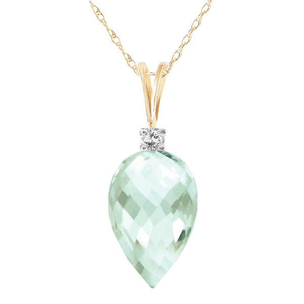 9.55 Carat 14K Solid Yellow Gold Temptations Green Amethyst Necklace