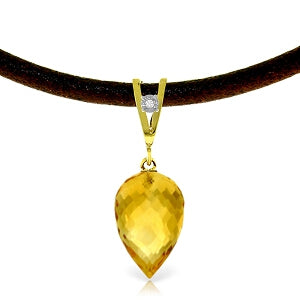 9.51 Carat 14K Solid Yellow Gold Savoire Faire Citrine Necklace