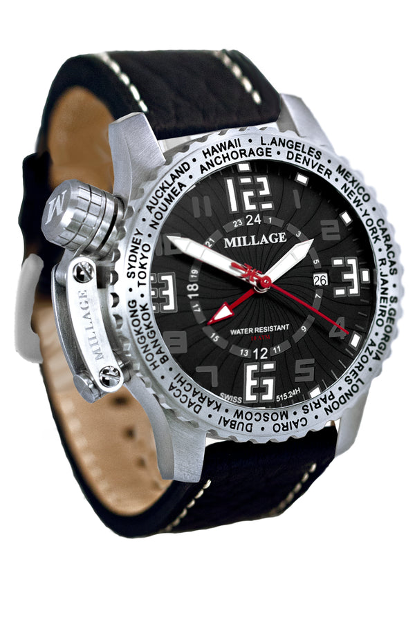 Millage MOSCOW Collection Watch BLK-BLK-LB