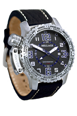 Millage MOSCOW Collection Watch BLK-BLU-BLK-LB