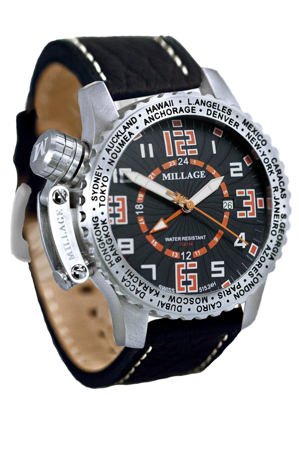 Millage MOSCOW Collection Watch BLK-OR-BLK-LB