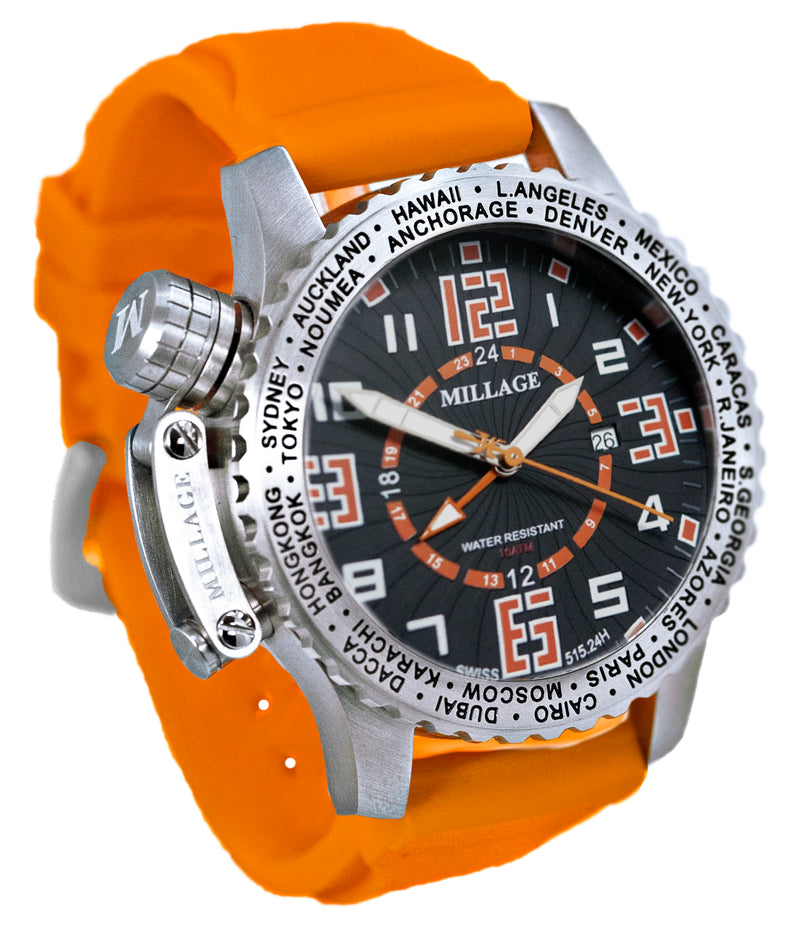 Millage MOSCOW Collection Watch BLK-OR-OR-SL