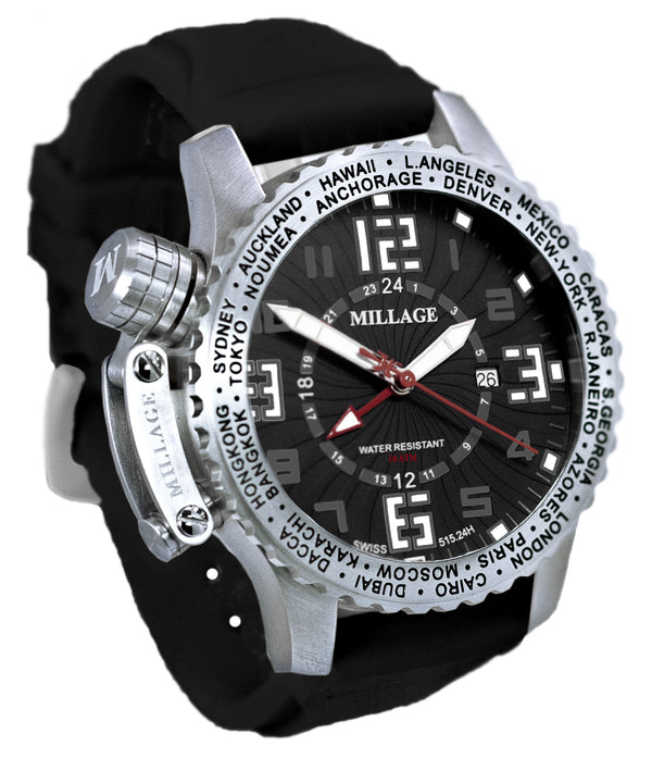 Millage MOSCOW Collection Watch BLK-W-BLK-SL
