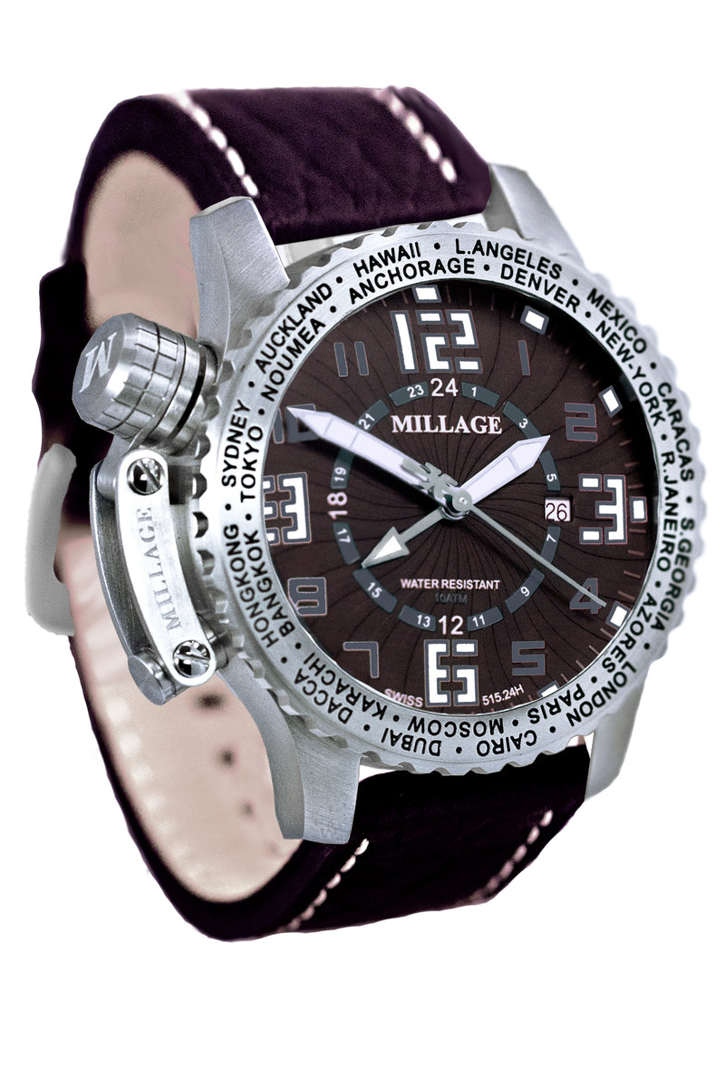 Millage MOSCOW Collection Watch BR-W-BR-LB