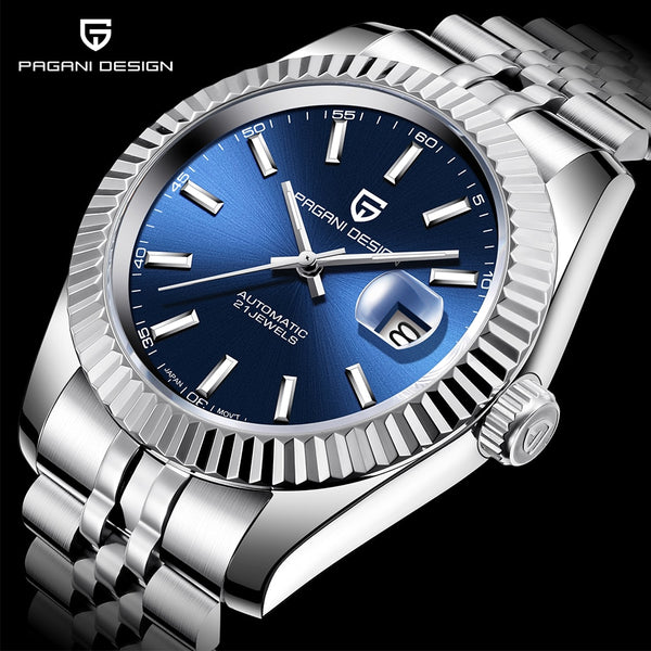 PAGANI DESIGN Men Mechanical Watch Top Brand Luxury Automatic Watch Sport Stainless Steel Waterproof Watch Men relogio masculino