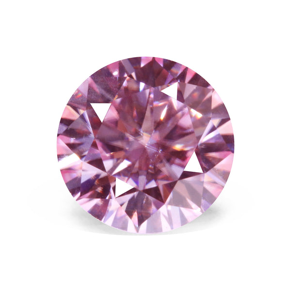 Pink Color Round Moissanite Loose Gemstones 1ct(6.5mm) VVS Clarity Diamond Jewelry DIY Material with Certificate Wholesale