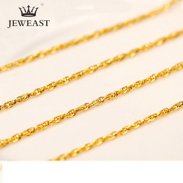 QA 24K Pure Gold Necklace Real AU 999 Solid Gold Chain Brightly Simple Upscale Trendy Classic Fine Jewelry Hot Sell New 2020