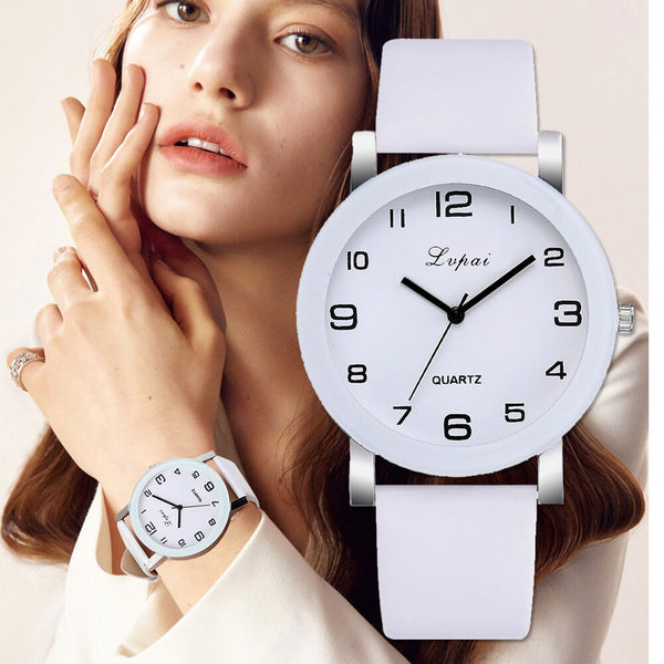 Lvpai Brand Quartz Watches For Women Luxury White Bracelet Watches Ladies Dress Creative Clock 2019 New Relojes Mujer