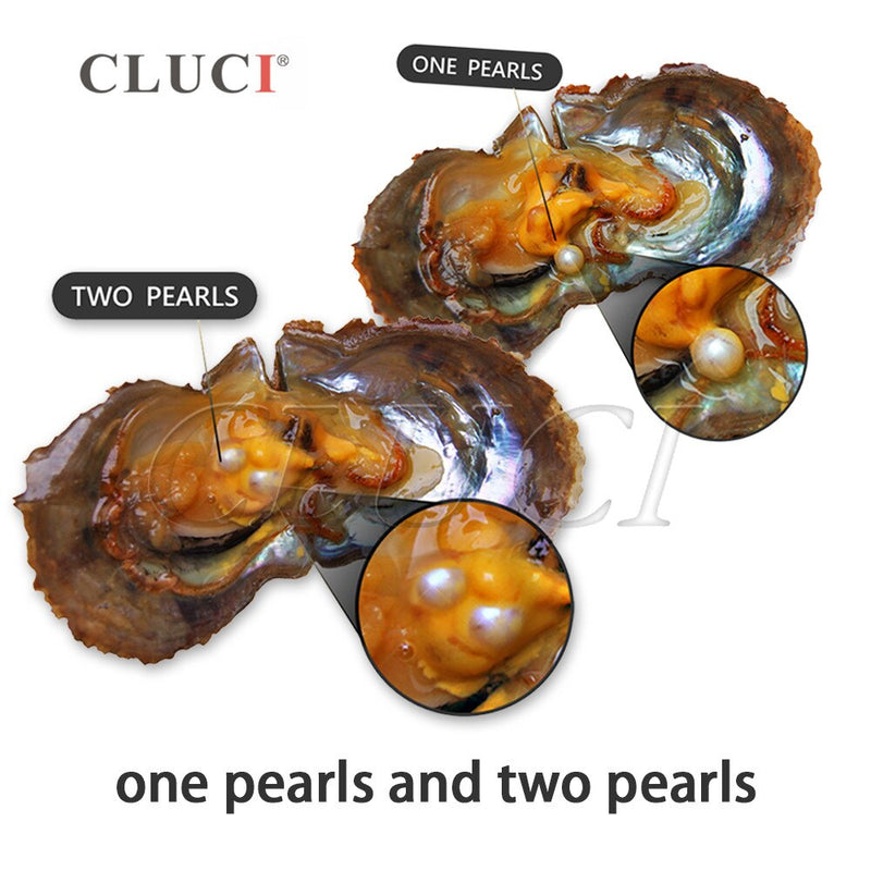 CLUCI 150pcs 6-8mm Mix 20 Colors Natural Round Akoya Pearls Saltwater Beads Vacuum Packed Oysters with Pearls WP154SB