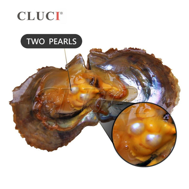 CLUCI 30pcs 7-8mm Akoya Oysters with Pearls Mix 13 Colors Single and Twins Pearls Oysters Surprising Party Pearl Oyster WP335SB