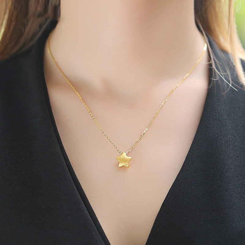 HFL 24K Pure Gold Necklace Real AU 999 Solid Gold Chain Beautiful Upscale Trendy Classic Party Fine Jewelry Hot Sell New 2019