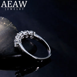 AEAW Sterling silver 925 4mm 1.5ctw DF Color Moissanite Eternity Wedding Band Moissanite Ring for Women Ladies Ring
