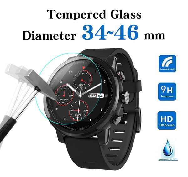 All Size Round Watches Tempered Glass Screen Protective Film Diameter 34 35 36 38 39 40 42 45 46 mm Screen Guard For Smart Watch