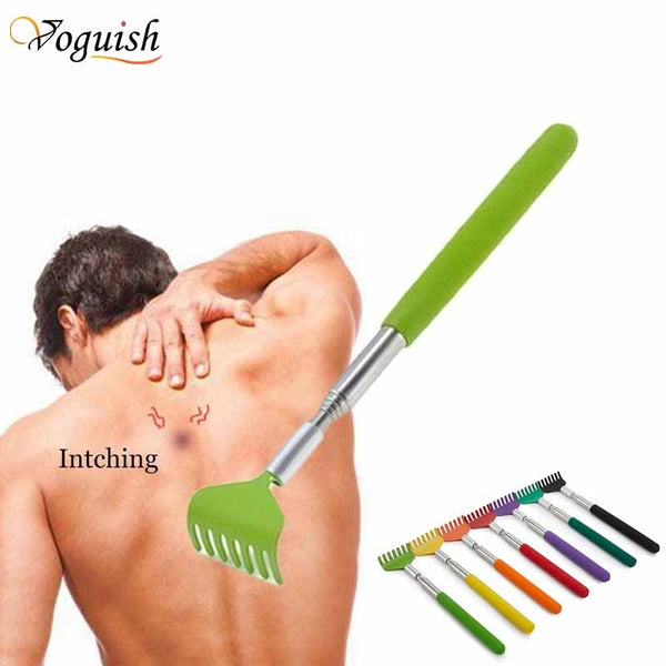 Stainless Steel Claw Back scraper Telescopic Retractable Back Scratcher Extendible Body Massage Hackle Itch Stick Health care