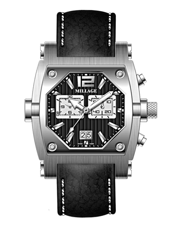 Millage ROGUE Collection Watch M3126 LS BLK/W