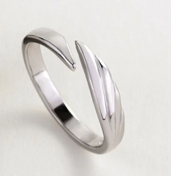 925 Sterling Silver Angel Ring Original Creative Texture Romantic Ring For Lovers Festival Jewelry