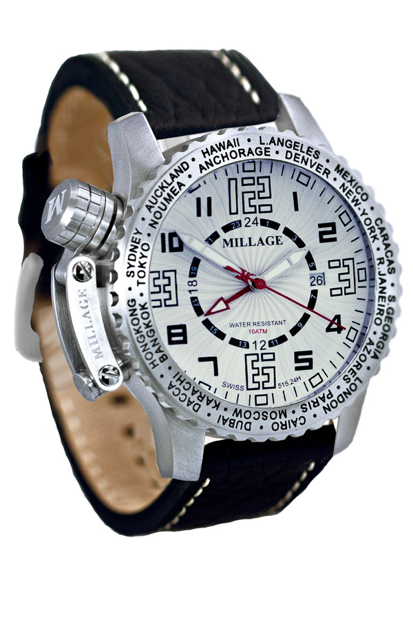 Millage MOSCOW Collection Watch W-BLK-BLK-LB