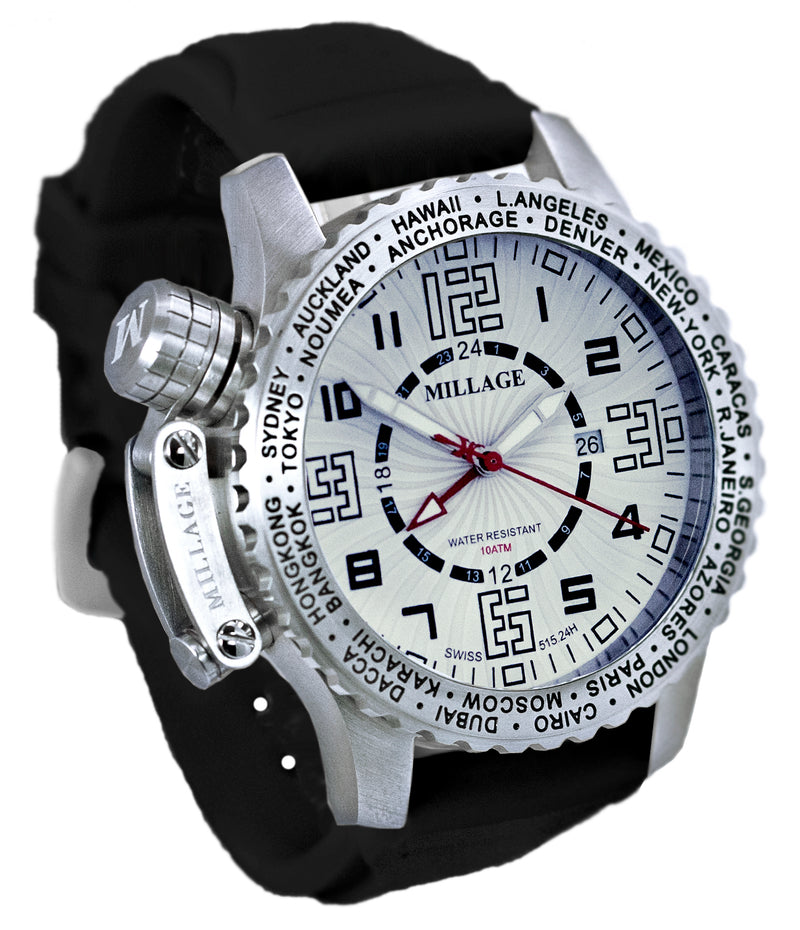 Millage MOSCOW Collection Watch W-BLK-BLK-SL