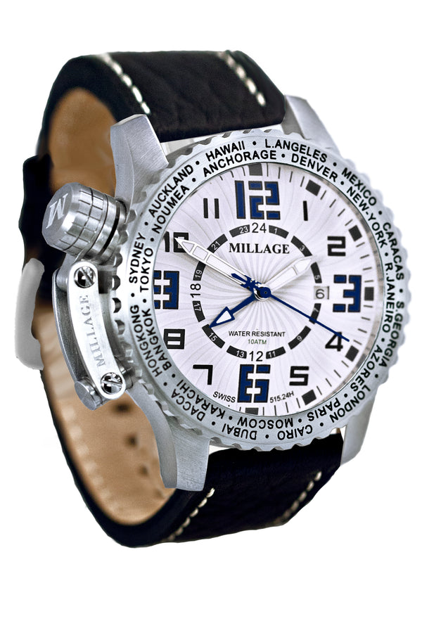 Millage MOSCOW Collection Watch W-BLU-BLK-LB